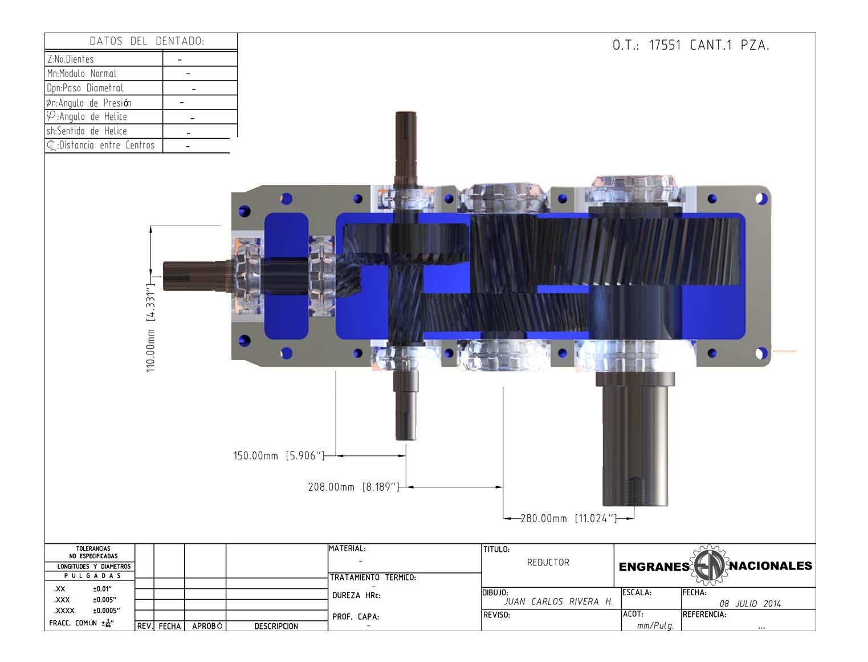 Engranes nacionales for Planos de construccion